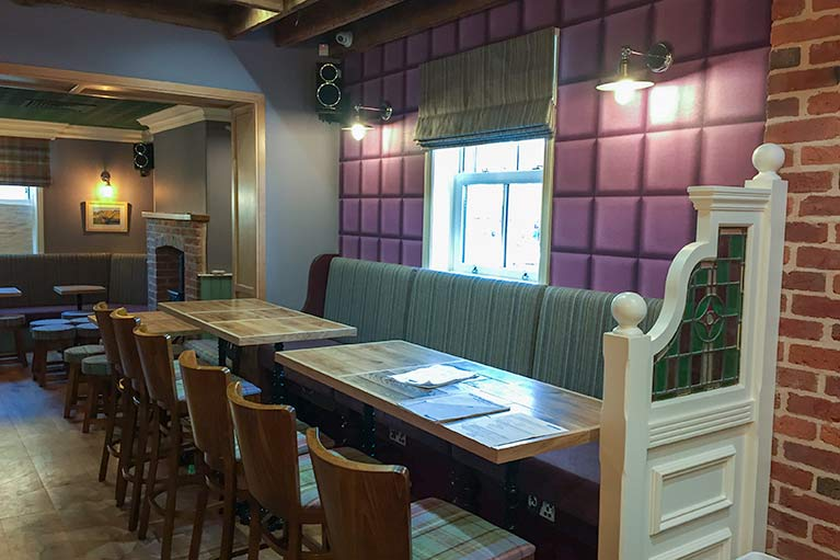 Pub refurbishments - curtain, blinds and upholstery